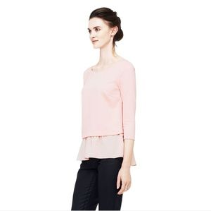 Club Monaco Claudia Top with Silk Hem XS